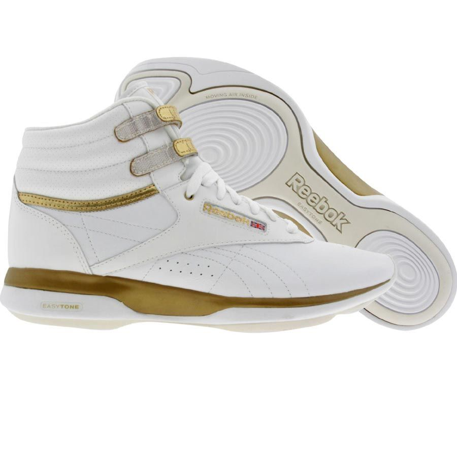 4c59405ebbd Reebok EasyTone Freestyle High (white   true gold   paper white) Shoes  2-V43365