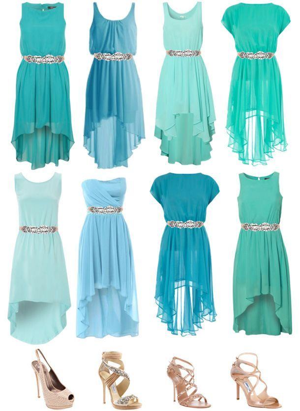 SomethingTurquoise.com + TheFashionDrug.com   Aisle Style! Important tips  for choosing mismatched bridesmaids dresses! d45cf464f8