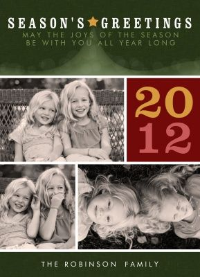 Personalized Holiday Cards, Shining Star Design