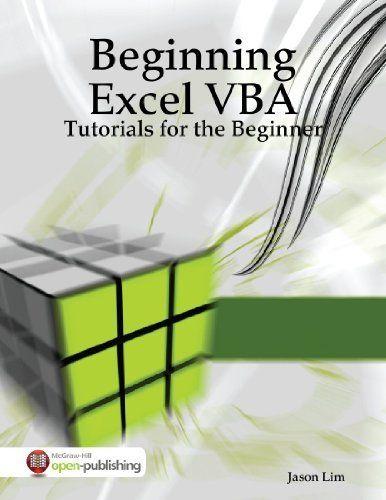Beginning Excel VBA Programming by Iducate Learning Technologies - vba programmer sample resume