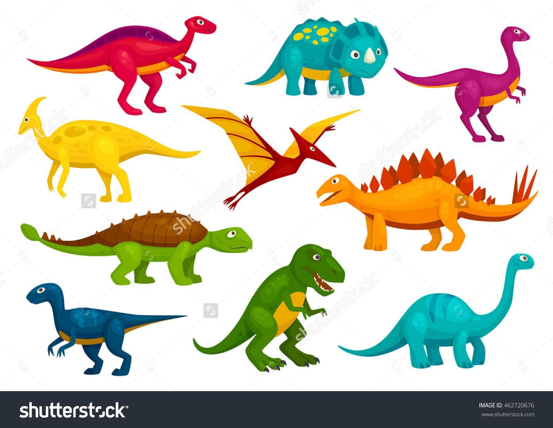 dinosaurs cartoon collection cute trex tyrannosaurus