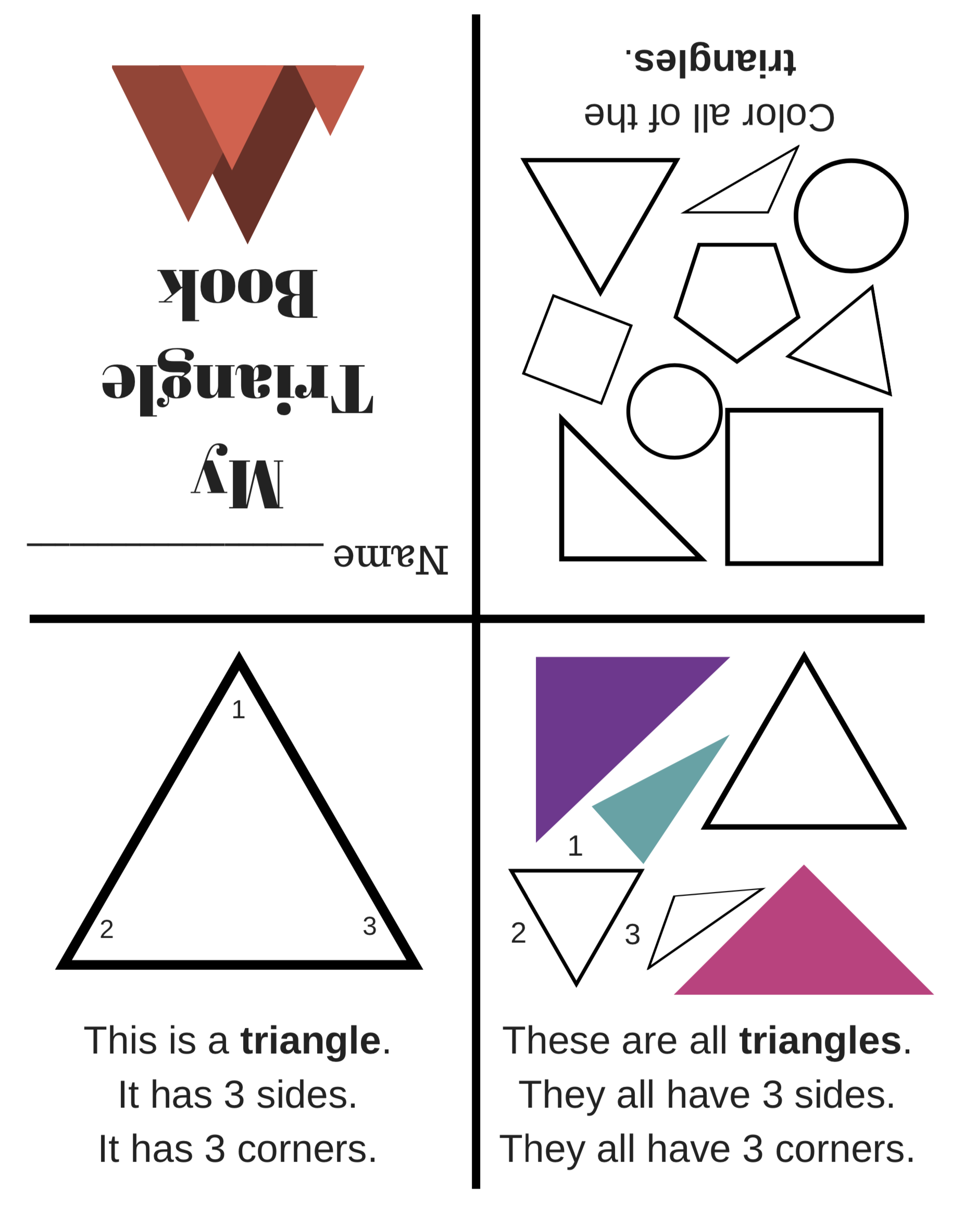 Ccss K G A 2 Plain Shapes Easy Fold Books And Worksheets