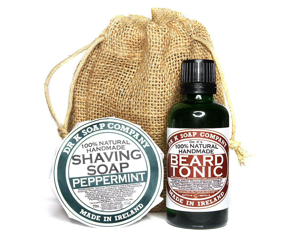 Goatee man gift set gift for him natural beard by