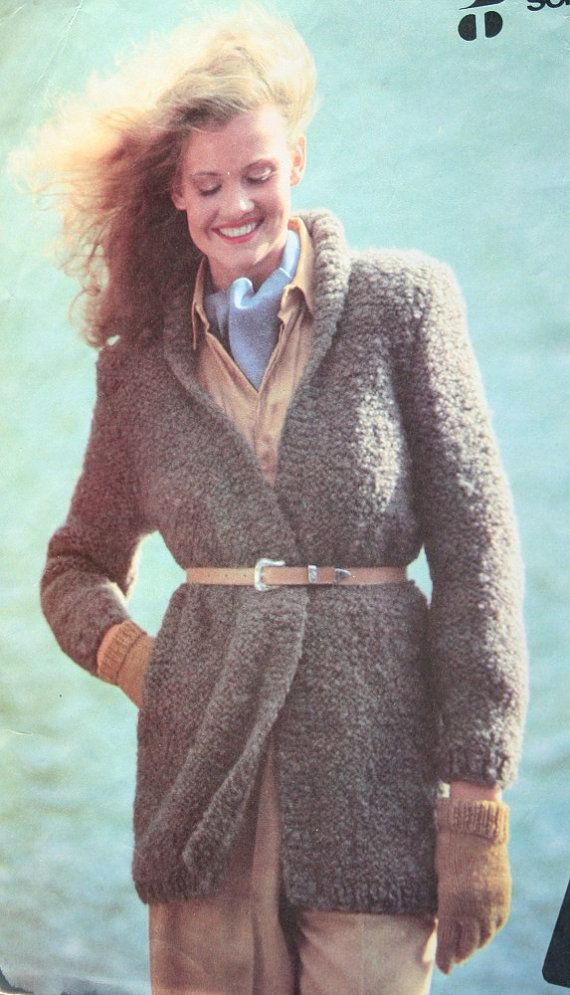 Jacket Knitting Pattern English French Boucle Ladies by elanknits ...