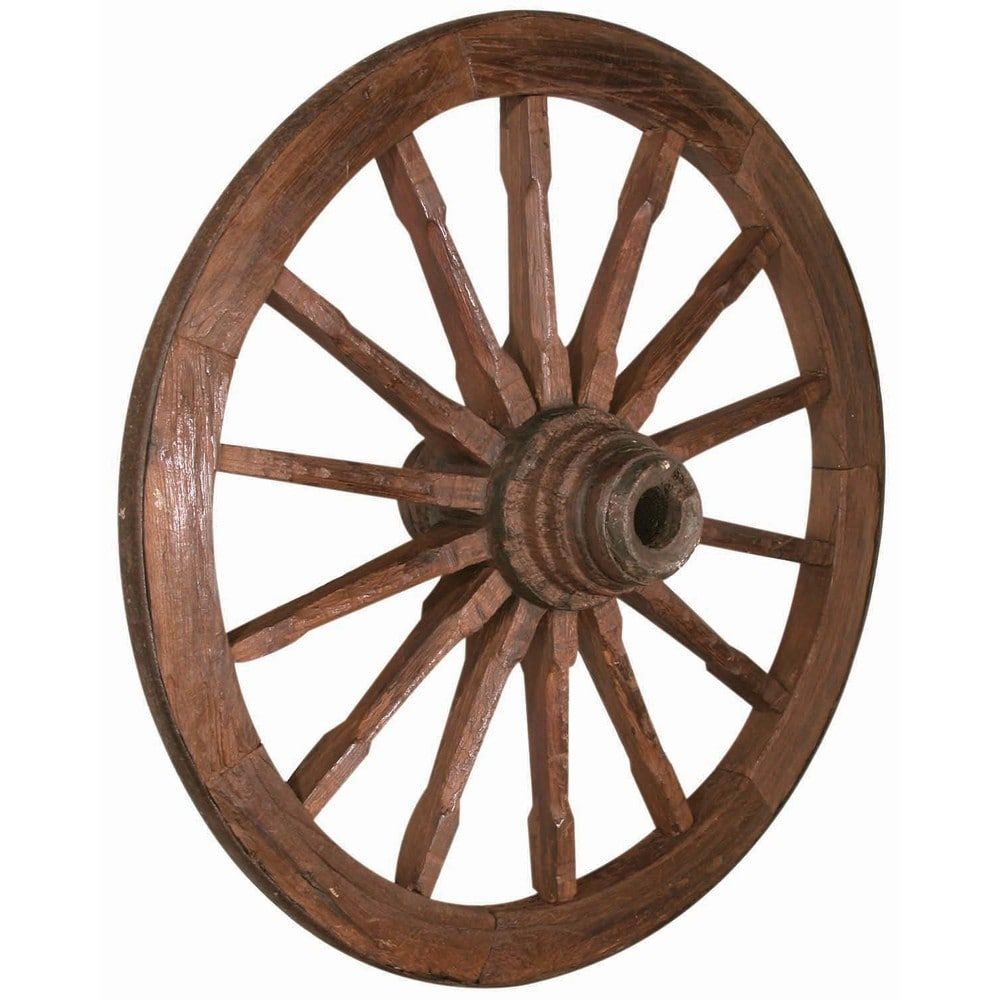 Antique Wild West Wagon Wheel | Overstock.com Shopping - The Best ...