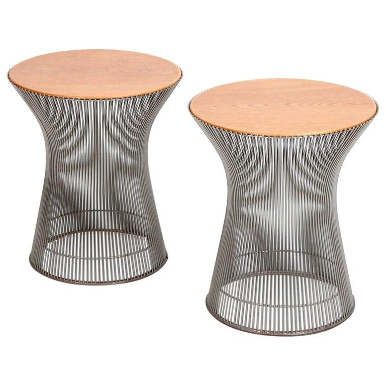 Pair Of Side Tables By Warren Platner For Knoll Warren Platner