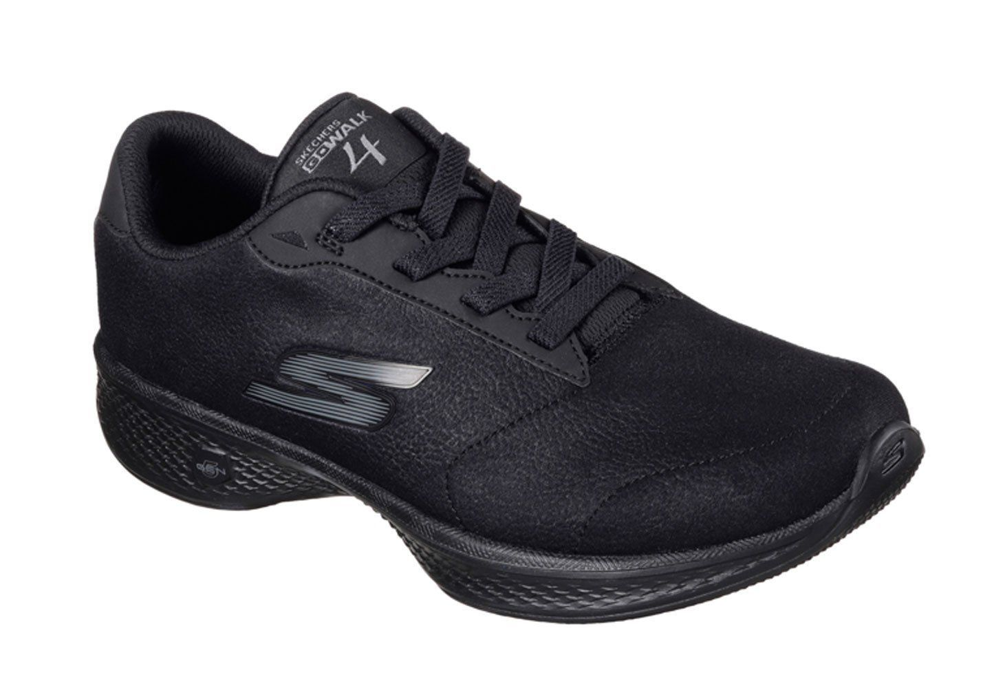 68a4a1f06d54 Skechers GOwalk 4 Premier Black Walking Shoes