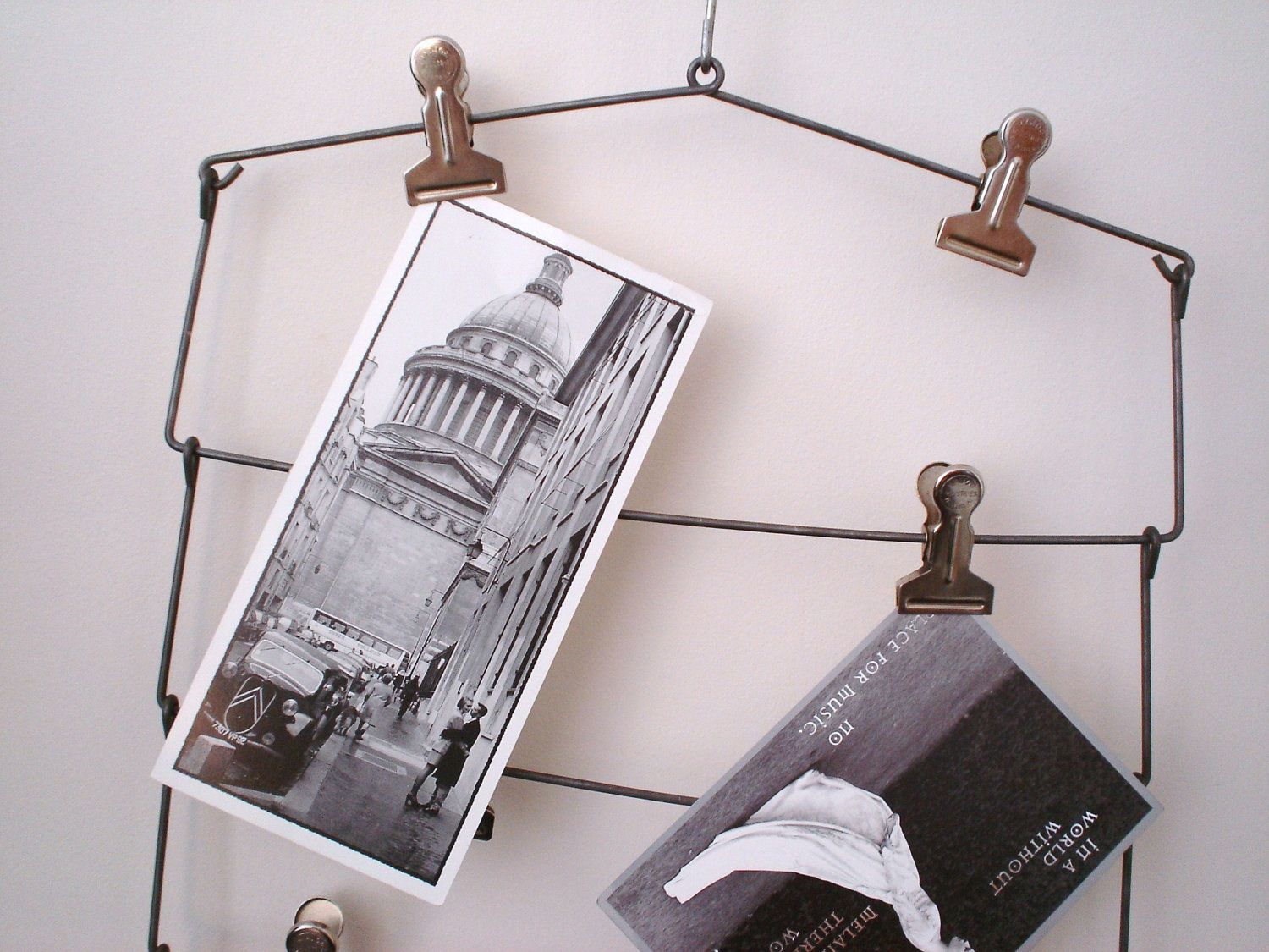 Vintage Skirt Pant Clothes Wire Clip Hanger Wall Display Inspiration ...
