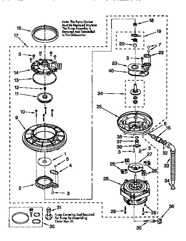 KITCHENAID UNDERCOUNTER DISHWASHER Parts | Model ...