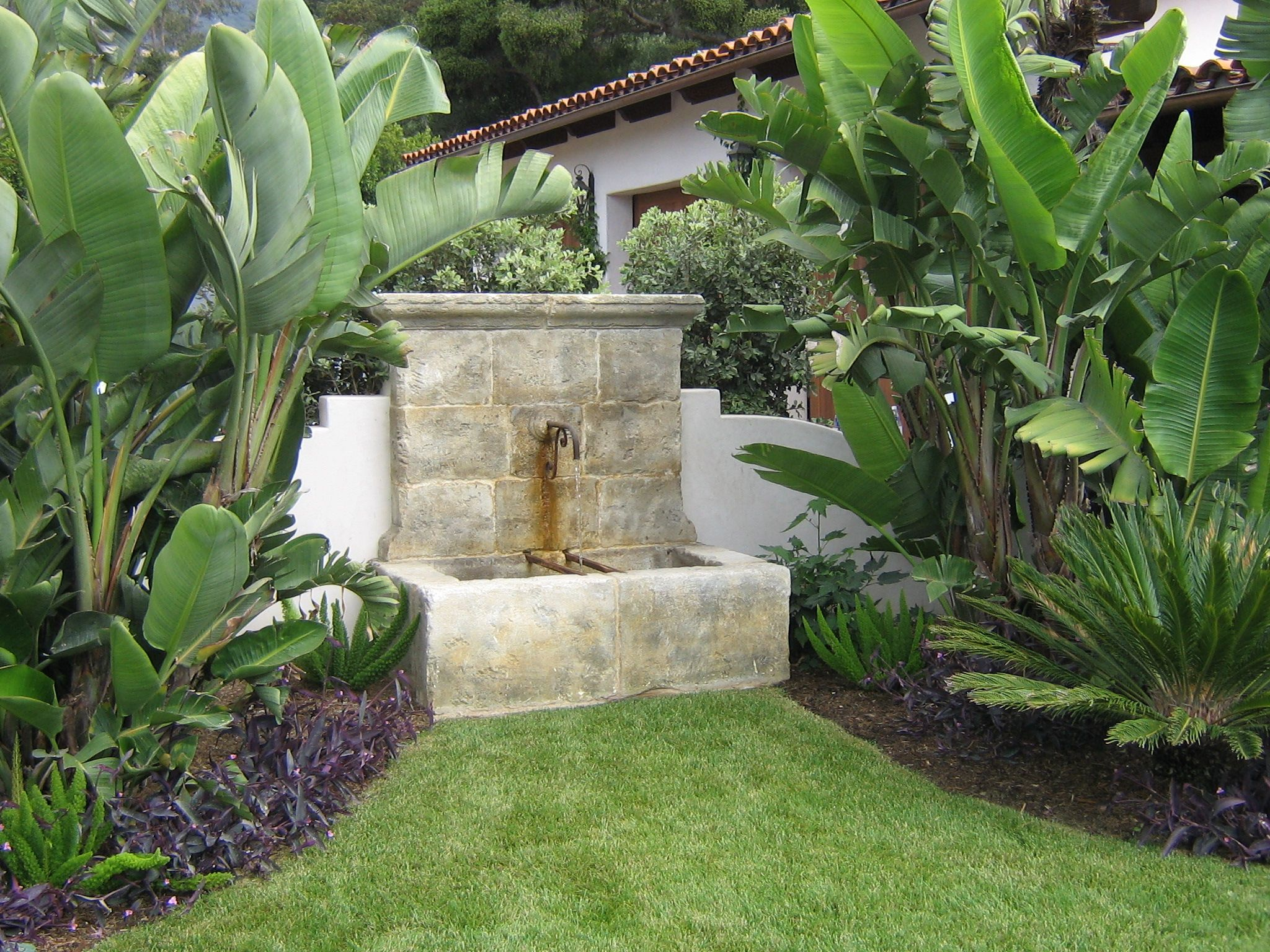 Front garden features  antique water fountains  fountain ideas  Outside Water Feature