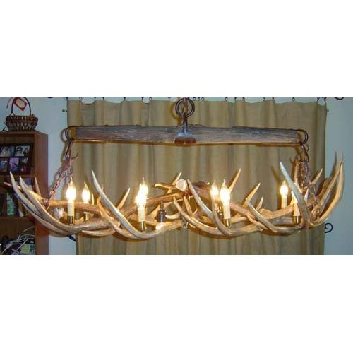 How to make antler lamps how to make deer antler chandelier we carry this peak single tree over mule deer antler chandelier 10 lights and other fine american made rustic furniture and dcor aloadofball Choice Image