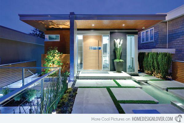15 Modern Front Yard Landscape Ideas Home Design Lover Architecture Entrance Design Modern Entry