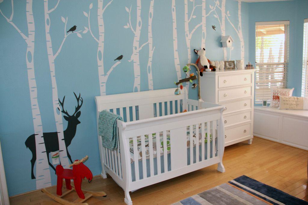 Blue and White Woodland Nursery
