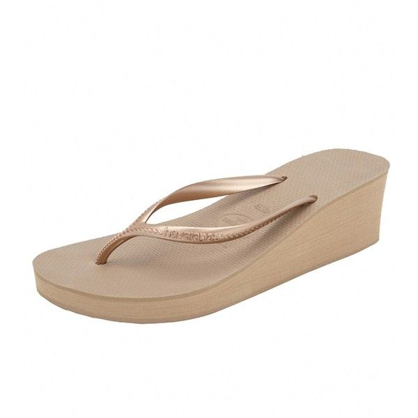 0d6907e519a4 Havaianas Womens High Fashion Wedge Flip Flop ( 20) ❤ liked on Polyvore  featuring shoes