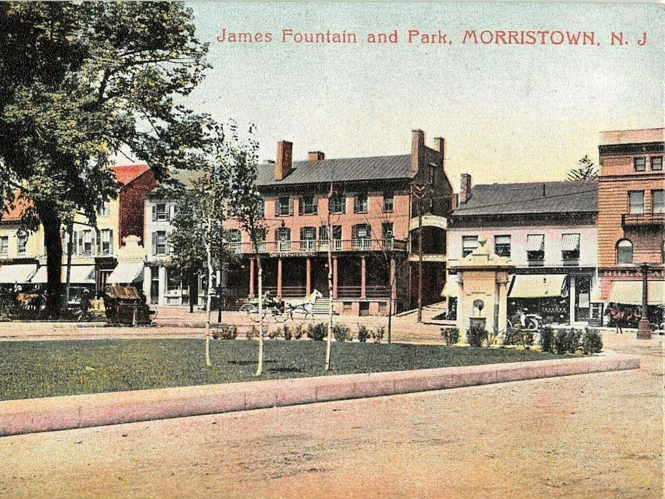 Morristown NJ, New Jersey, James Fountain, Park, Morris County, Vintage Modern Greeting Card NCC000550 by markopostcards on Etsy