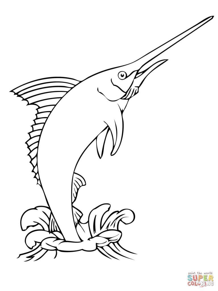 Free Coloring Pages With Regard To Marlin Coloring Pages Shape Coloring Pages Free Coloring Pages Fish Coloring Page