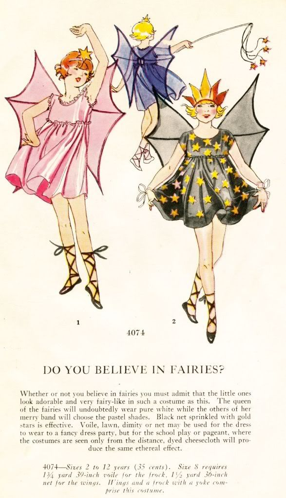 1920's Masquerade Patterns - For the Kids - Do You Believe In Fairies?