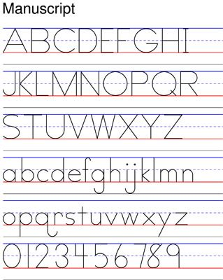 Manuscript Zaner Bloser Handwriting Worksheets Cursive