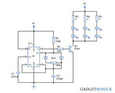 using pwm to conserve power and to create dimming effect led rh pinterest com  RGB LED Circuit Diagram