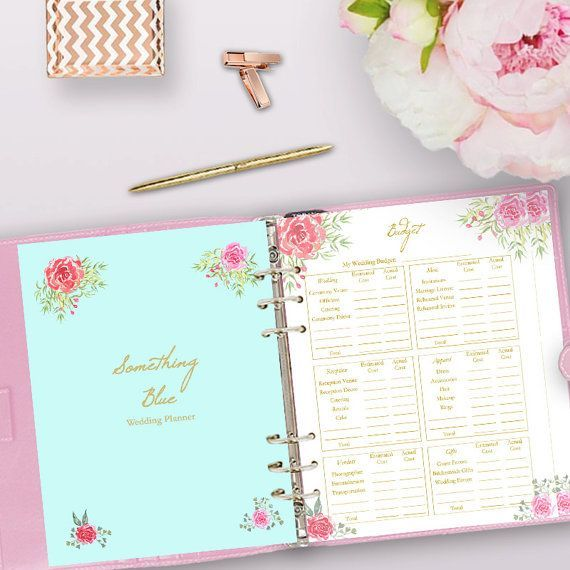 Printable Wedding Planner Use These Pages In Your DIY Binder Or Planning Book
