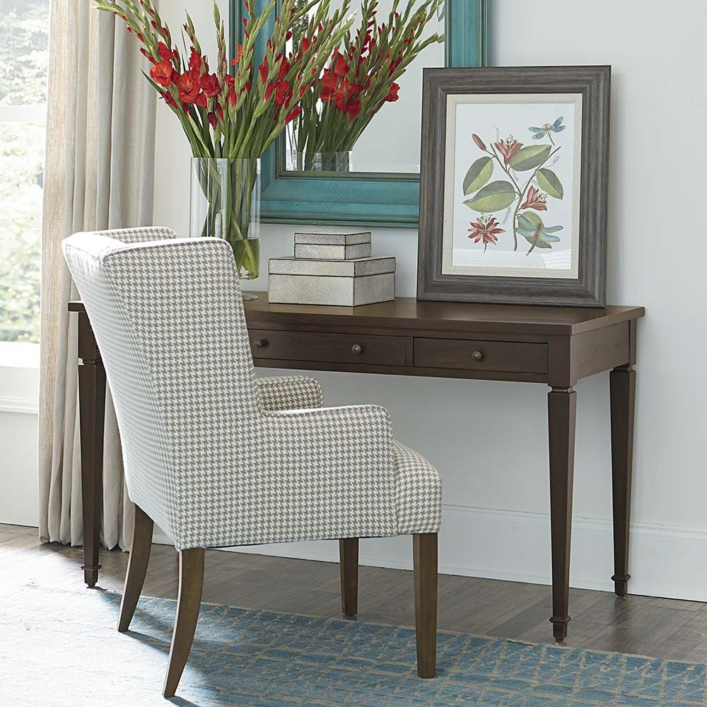 commonwealth 56 writing desk by bassett furniture features a pared rh pinterest com