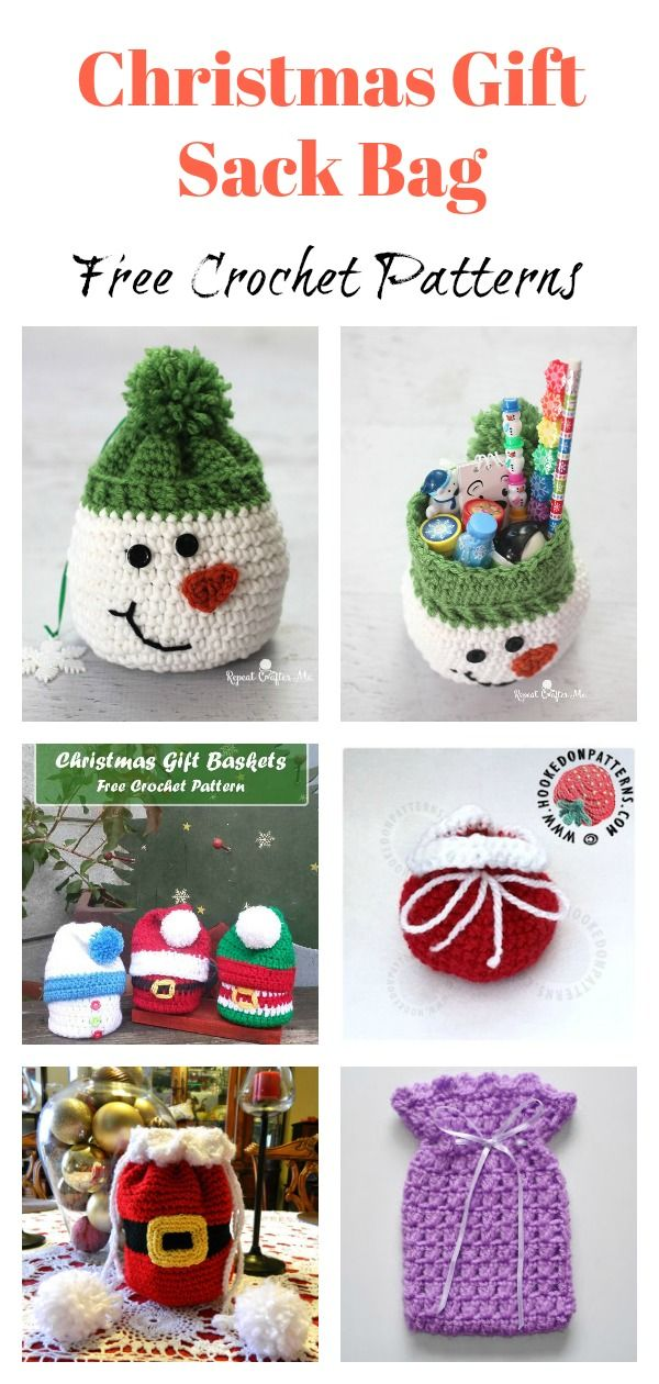 Christmas Gift Sack Bag Free Crochet Pattern | crotchet | Pinterest ...