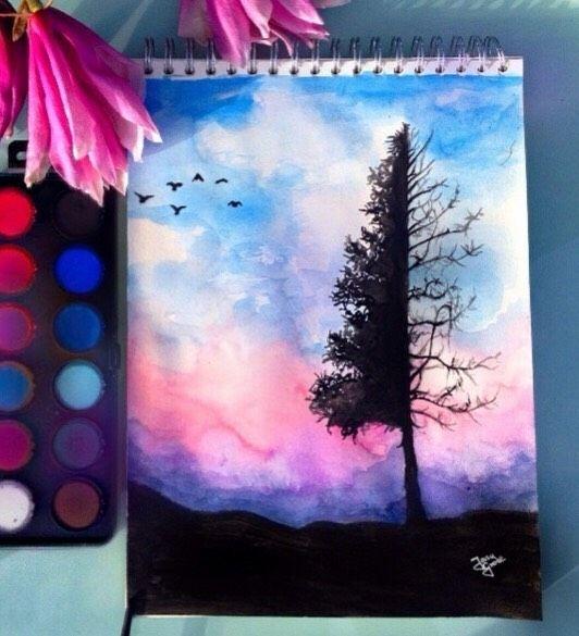 Best Of Watercolor Pencil Drawing Ideas Watercolor Paintings