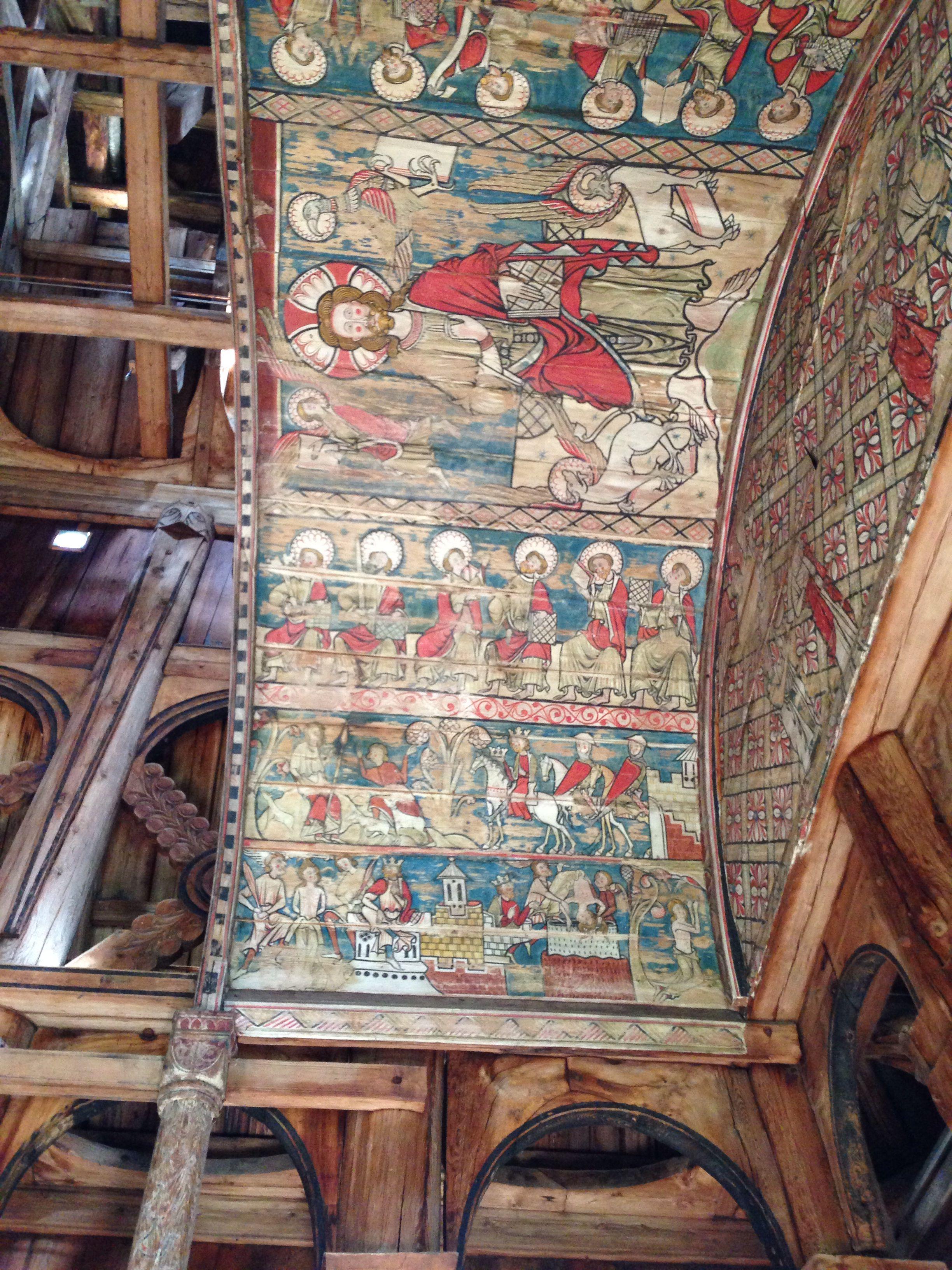 Inside Torpo Stave Church Sacred Art Art Church