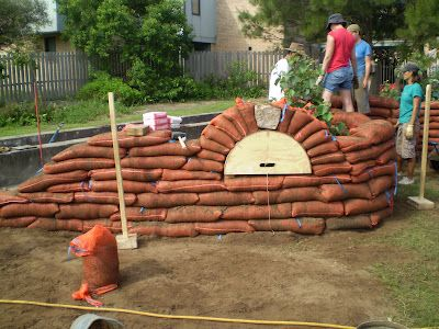 PURPLE PEAR FARM permaculture in action: Earth Bag Wall Completed