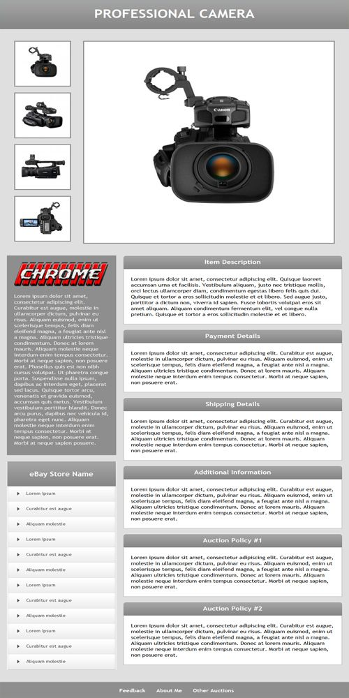 Another one of our recently released auction templates Check it - feedback templates