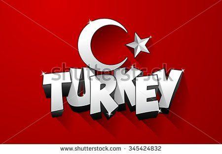 Creative abstract flag of Turkey, turkish flag background vector illustration