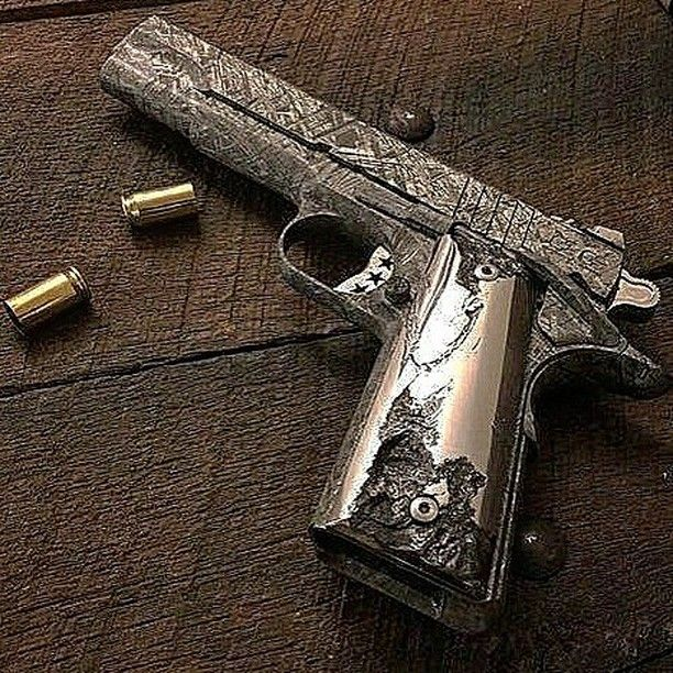 Credit Cabotguns Seriously It S A 1911 Made From A Meteorite