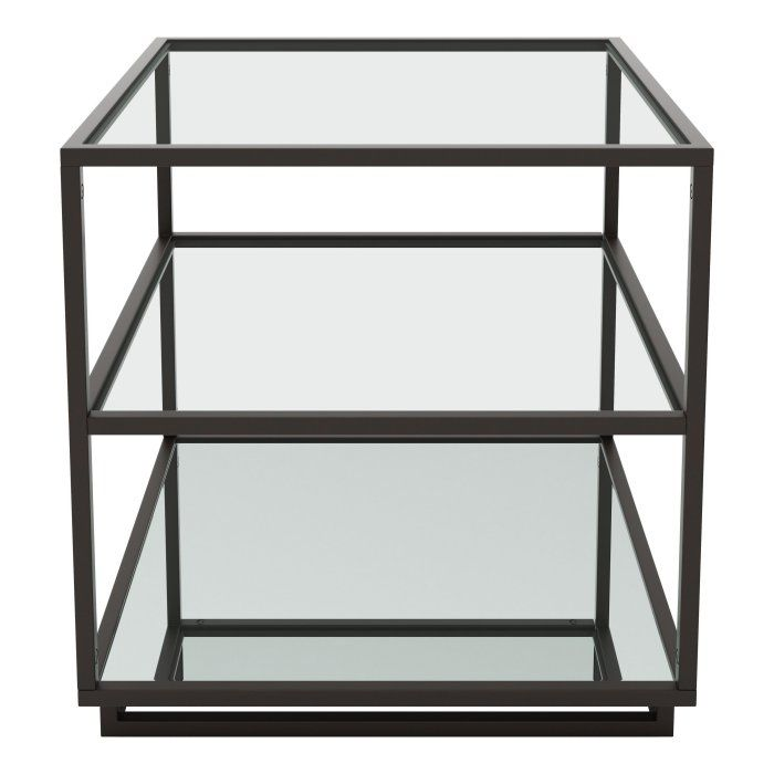Zuo Modern Contemporary Kure End Table Shelves Glass