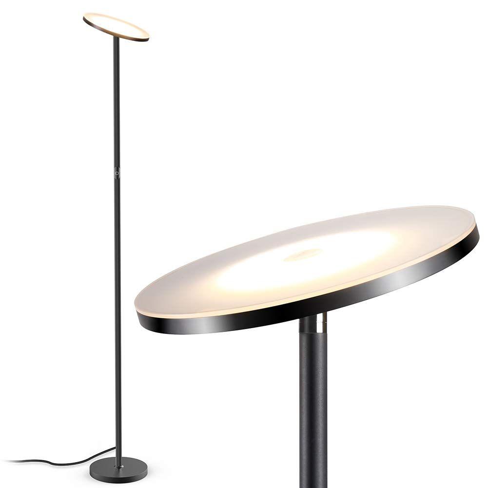 Floor Lamp Led Torchiere Floor Lamp Tall Standing Uplight Industrial Floor Lamps Stepless Dimmable Modern Pole Cool Floor Lamps Torchiere Floor Lamp Floor Lamp