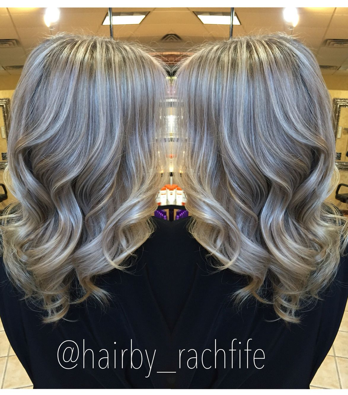 Icy ashy blonde balayage   Hair by Rachel Fife @ Sara Fraraccio Salon in Akron, Ohio