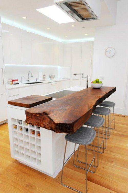 Bilder mit Einrichtungsideen küche tisch arbeitsplatte bad - bar für küche