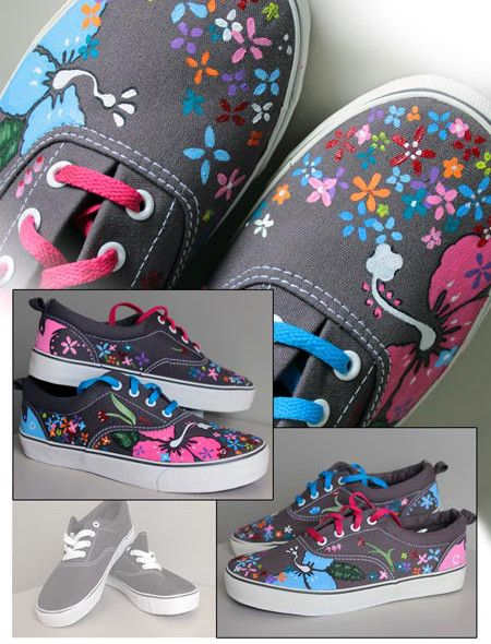 zapatillas pintadas a mano - Buscar con Google  6193d1ca7c8