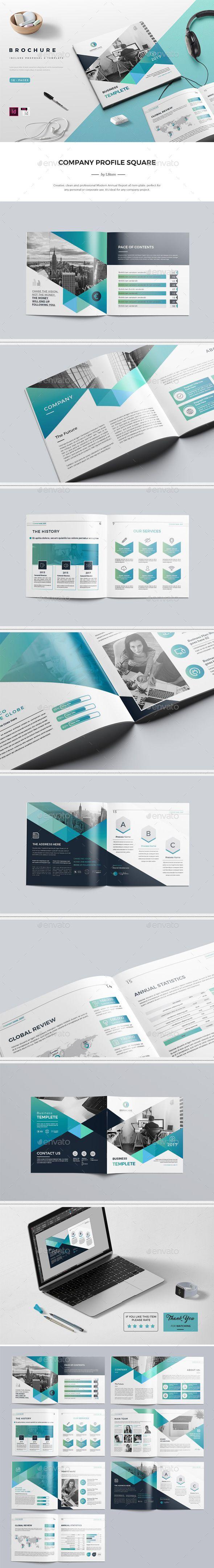Company Profile Square Brochure. 16 Pages