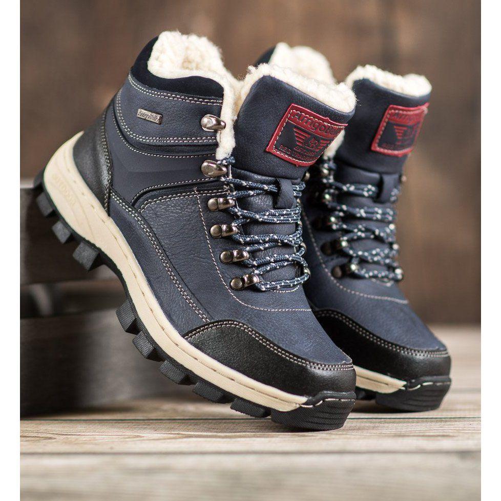 Arrigo Bello Sznurowane Buty Zimowe Niebieskie Boots Winter Boots Womens Boots