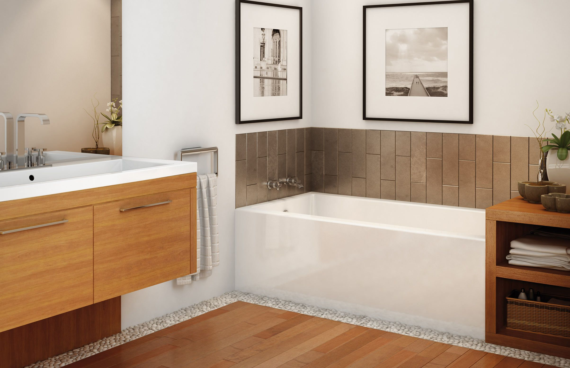 Maax Rubix 60 X 32 X 20 Left Drain Regular Alcove Bathtub In White