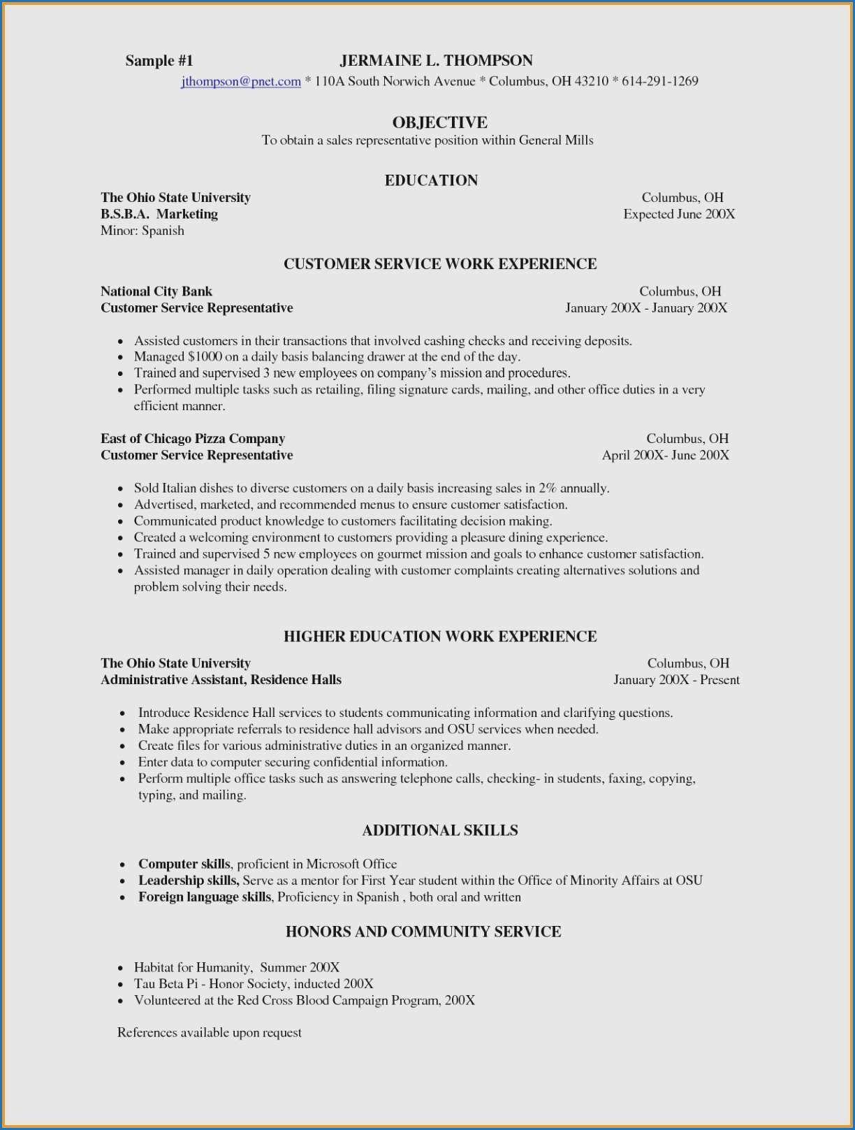 Waitress Job Description Resume Unique 14 Best S Curriculum Vitae Examples Waitress