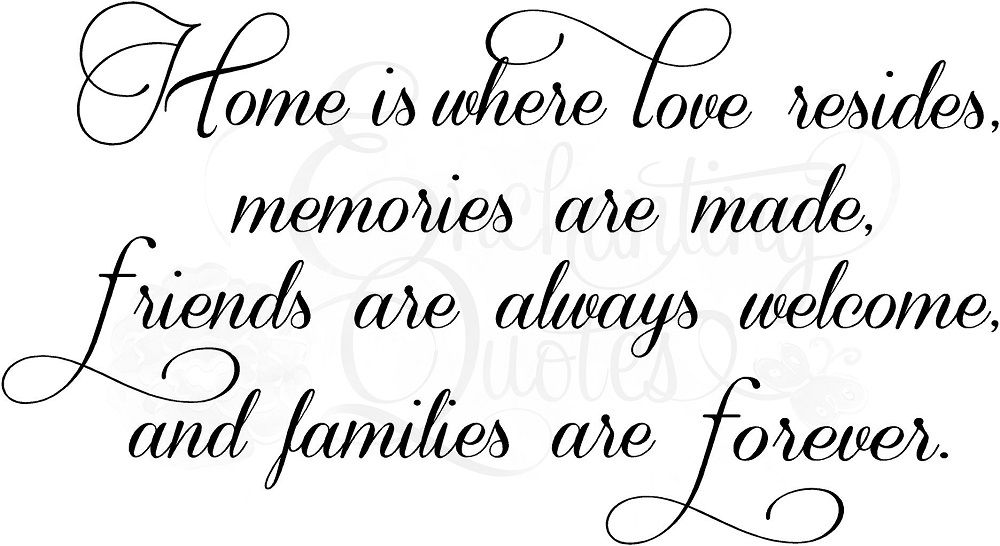 Home Is Where Love Resides Wall Quote Decal Home Pinterest