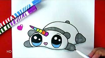 Comment Dessiner Une Licorne Kawaii Dessin Youtube Draw En