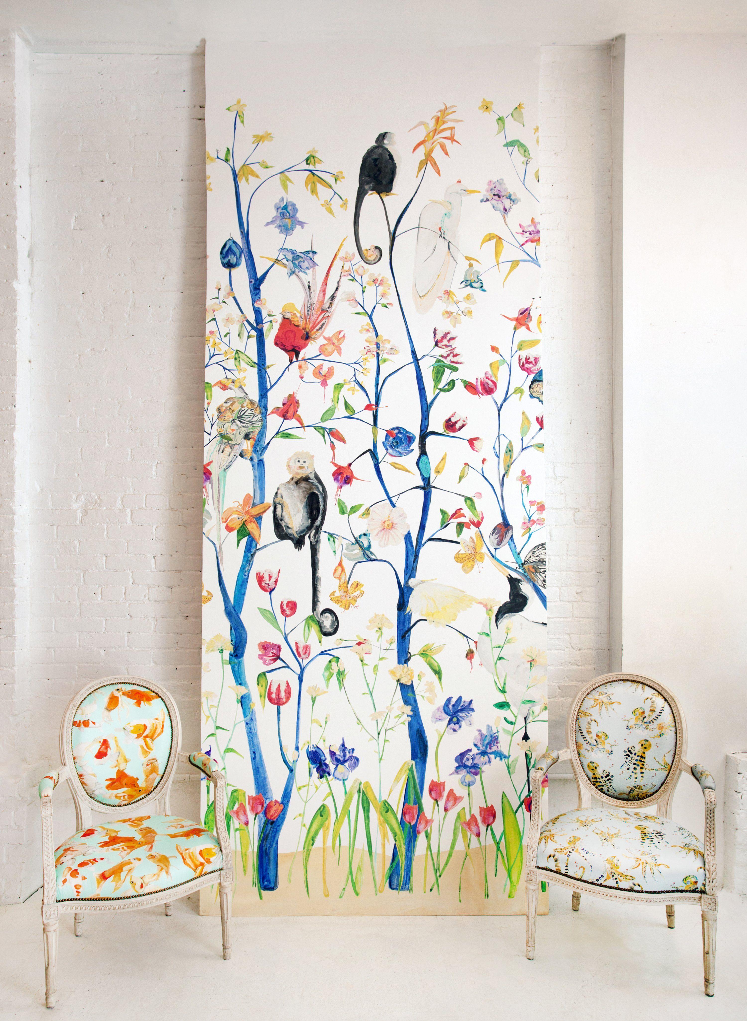 Menagerie Chinoiserie Wallpaper Decoración de unas