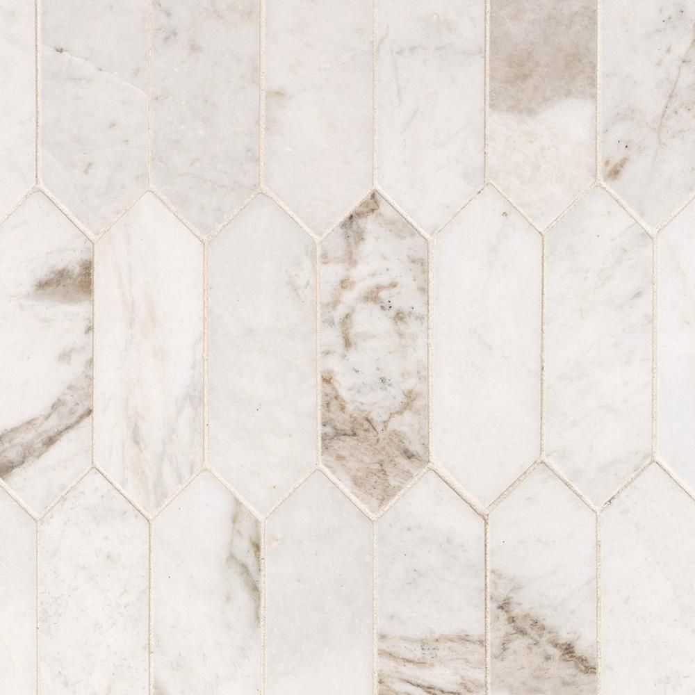 Bianco Orion Picket Marble Mosaic Marble Mosaic Floor Decor Kitchen Marble