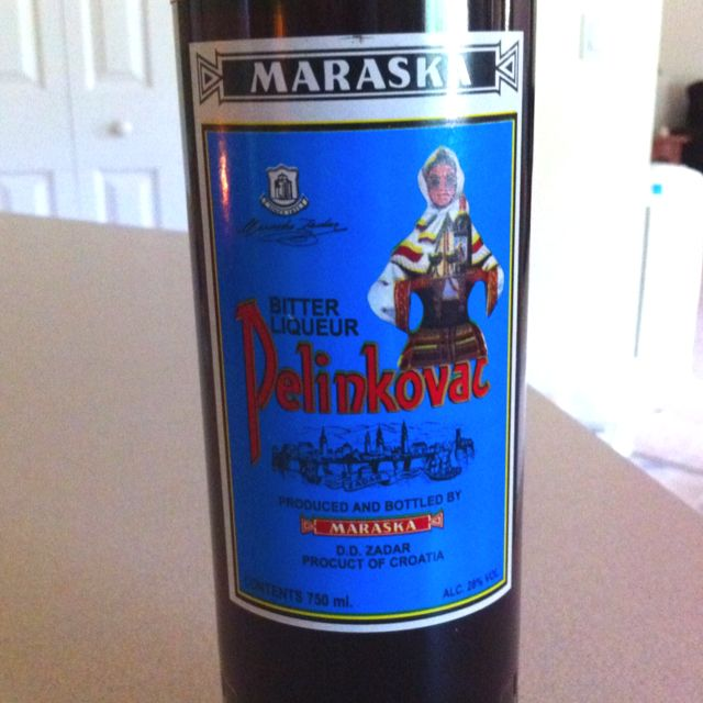 """Pelinkovac: a Croatian liqueur that's typically served along side cappucino in the AM (or any time), presumably to blur the line between """"coming"""" and """"going"""" lol I bought some for my husband for our anniversary and I'm now officially the best wife ever lol"""