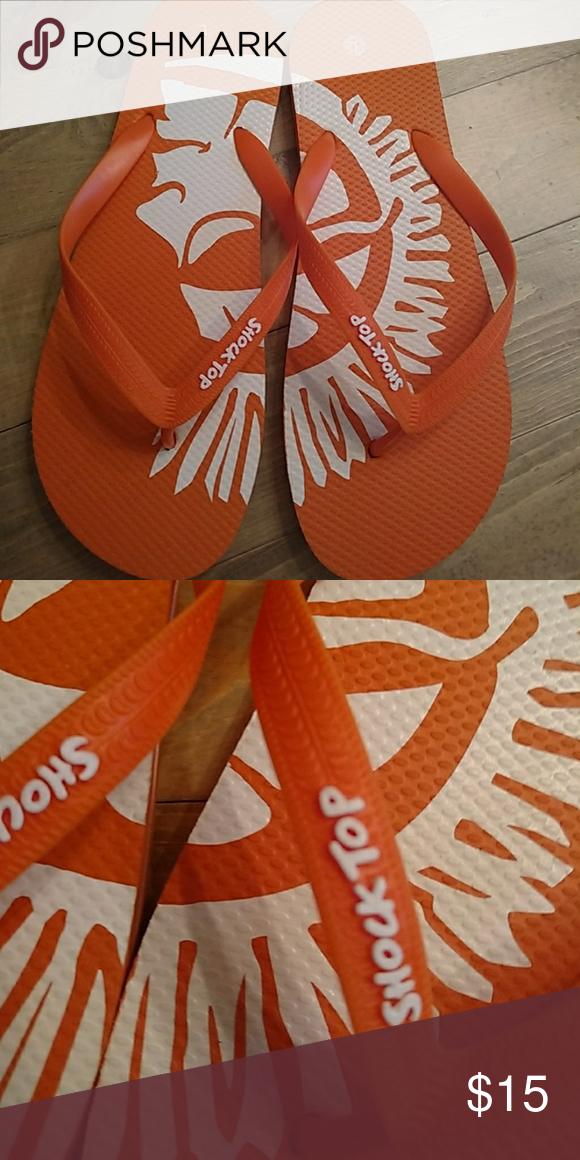 1f6993194a249a Shock Top orange men s flip flops New. Size large. 11 1 2