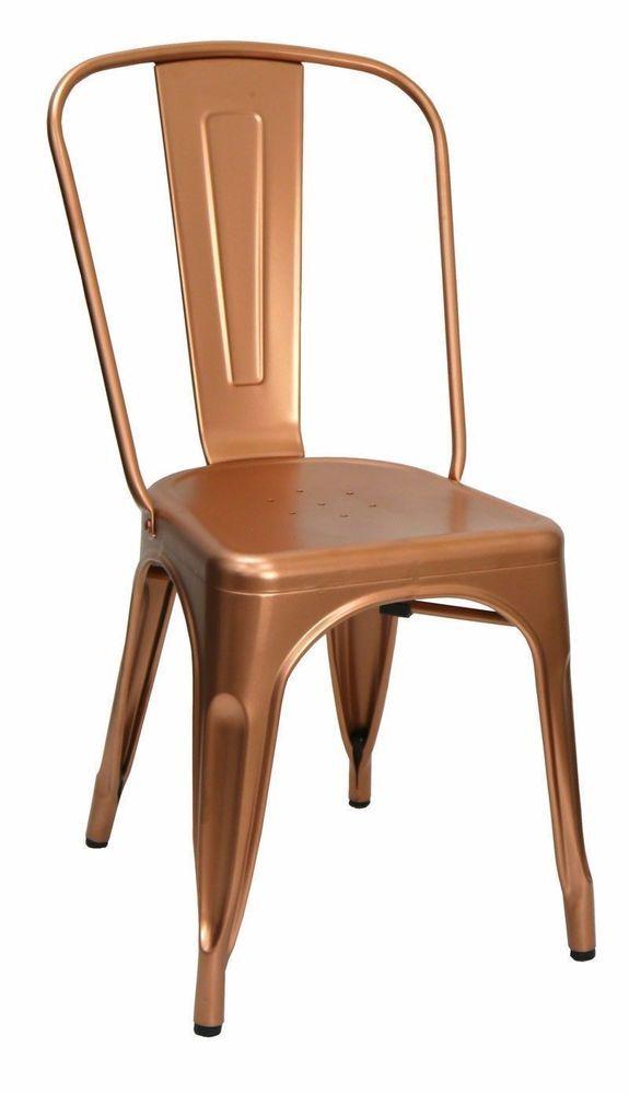 retro cafe dining chairs folding chair hire birmingham replica tolix xavier pauchard metal tom copper in business restaurants furniture ebay