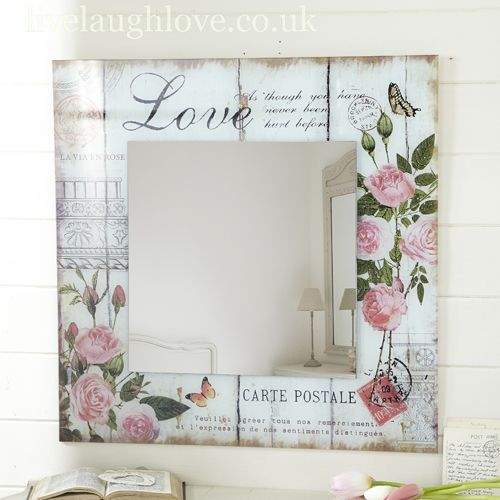 Decoupage en marcos de espejos y portaretratos decoupage for Espejos con marcos decorados