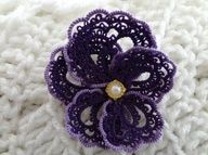 "Jewelry Ideas | Project on Craftsy: Purple Pansy"" data-componentType=""MODAL_PIN"
